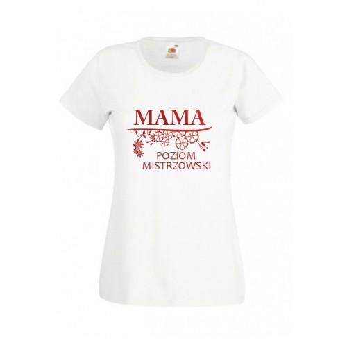 Koszulka dla Mamy Poziom Mistrzowski