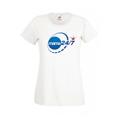 Koszulka dla Mamy MAMA 24/7 blue