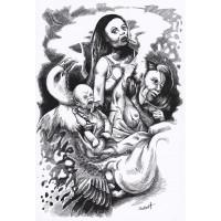 Koszulka DEATH AND COMPANY - ilustracja wiersza SYLVII PLATH