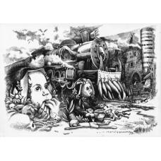 Koszulka GETTING THERE - ilustracja wiersza SYLVII PLATH
