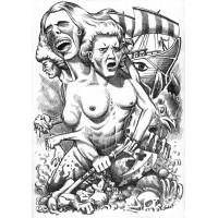 Koszulka KOLOS - ilustracja wiersza SYLVII PLATH
