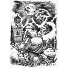 Koszulka THE MOON AND THE YEW TREE - ilustracja wiersza SYLVII PLATH