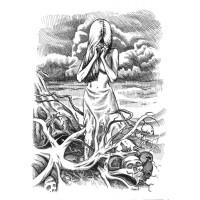 Koszulka I'AM VERTICAL - ilustracja wiersza SYLVII PLATH