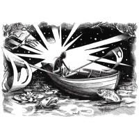 Koszulka CROSSING THE WATER - ilustracja wiersza SYLVII PLATH