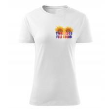 Koszulka z własnym logo biała damska