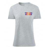 Koszulka z własnym logo kolorowa damska