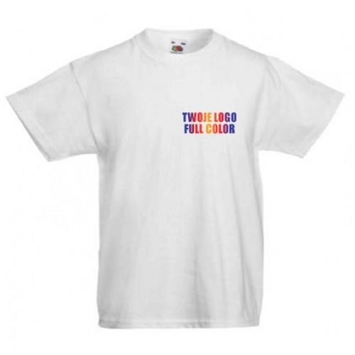 Koszulka z własnym logo biała dziecięca