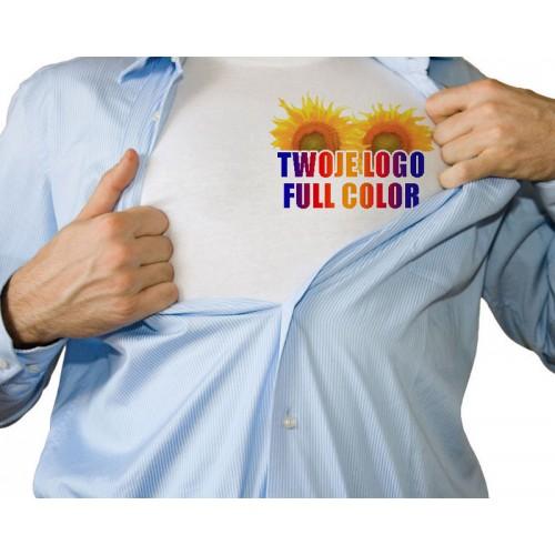 Koszulka z własnym logo biała męska