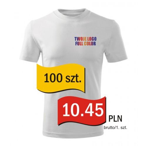 Koszulka z własnym logo biała męska kpl. 100 szt.