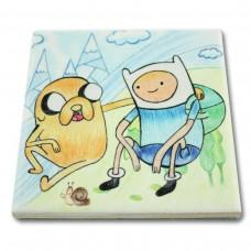 Podkładka ceramiczna pod kubek Adventure Time Rozmowa