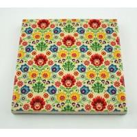 Podkładka ceramiczna pod kubek Folk Kolorowe Kwiaty