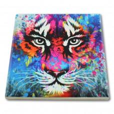 Podkładka ceramiczna pod kubek Kolorowy tygrys