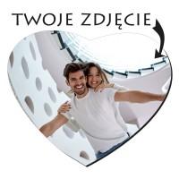 Foto podkładka pod mysz własne zdjęcie serce 23x20
