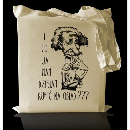 Torba bawełniana Eco z nadrukiem Einstein