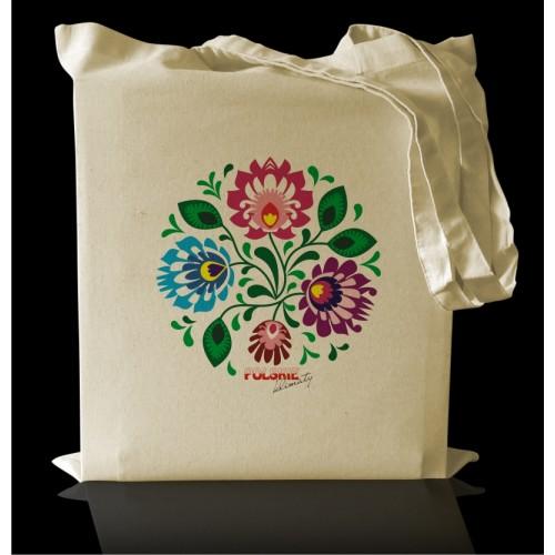 Torba bawełniana Eco FOLK z nadrukiem Kwiaty I