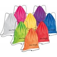 Worek na ciapy z imieniem do szkoły 8 kolorów