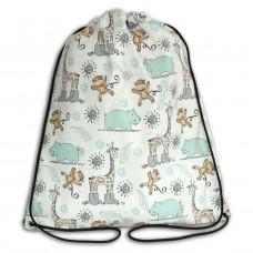 Worek/plecak impregnowany Żyrafy Małpy Hipopotamy